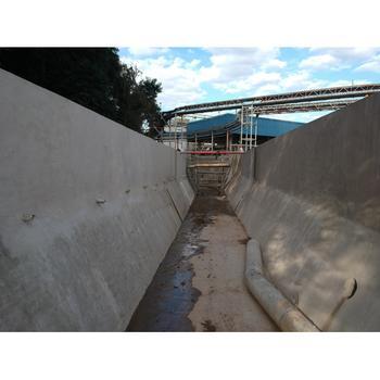 Canais em concreto projetado