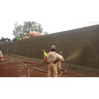 Muros concreto projetado