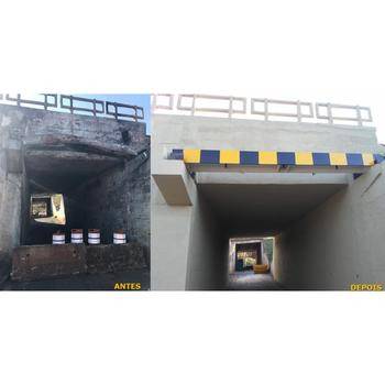 Recuperação estrutura em concreto projetado
