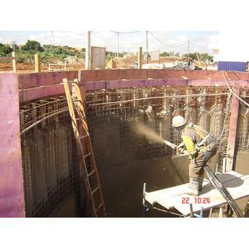 Reservatório em concreto projetado