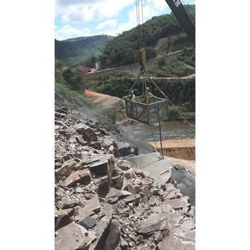 Concreto projetado em barragem